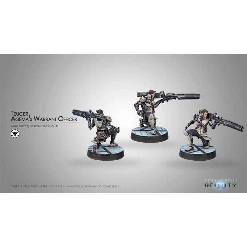 Figurine Infinity (Corvus Belli) - Teucer Agema Warrant Officer (Feuerbach)