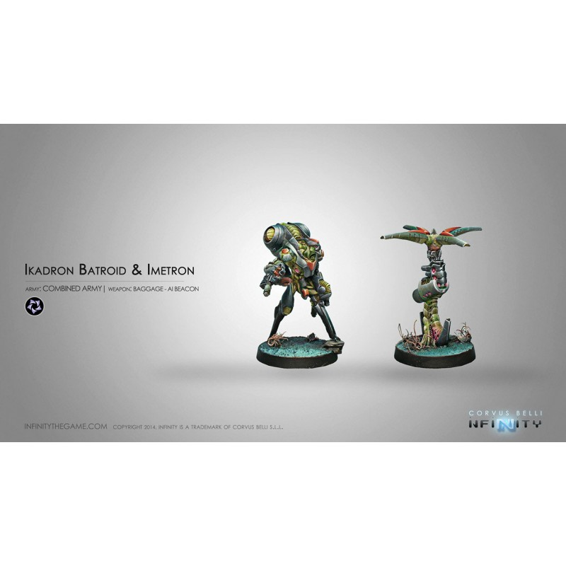 Figurine Infinity (Corvus Belli) - Ikadron Batdroids & Imetron