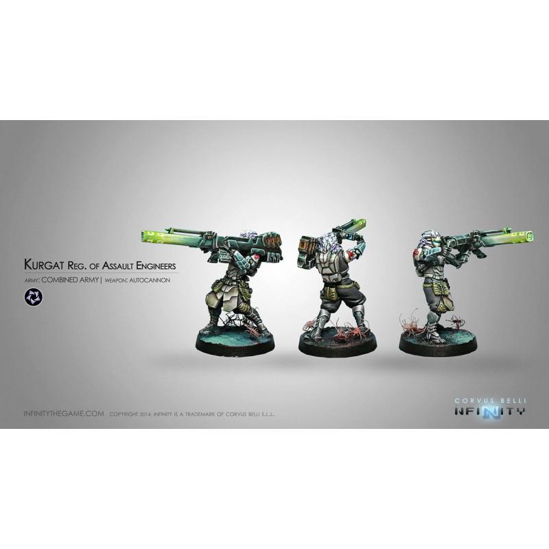 Figurine Infinity (Corvus Belli) - Kurgat, Reg. of Assault Ingenieurs (Autocannon)