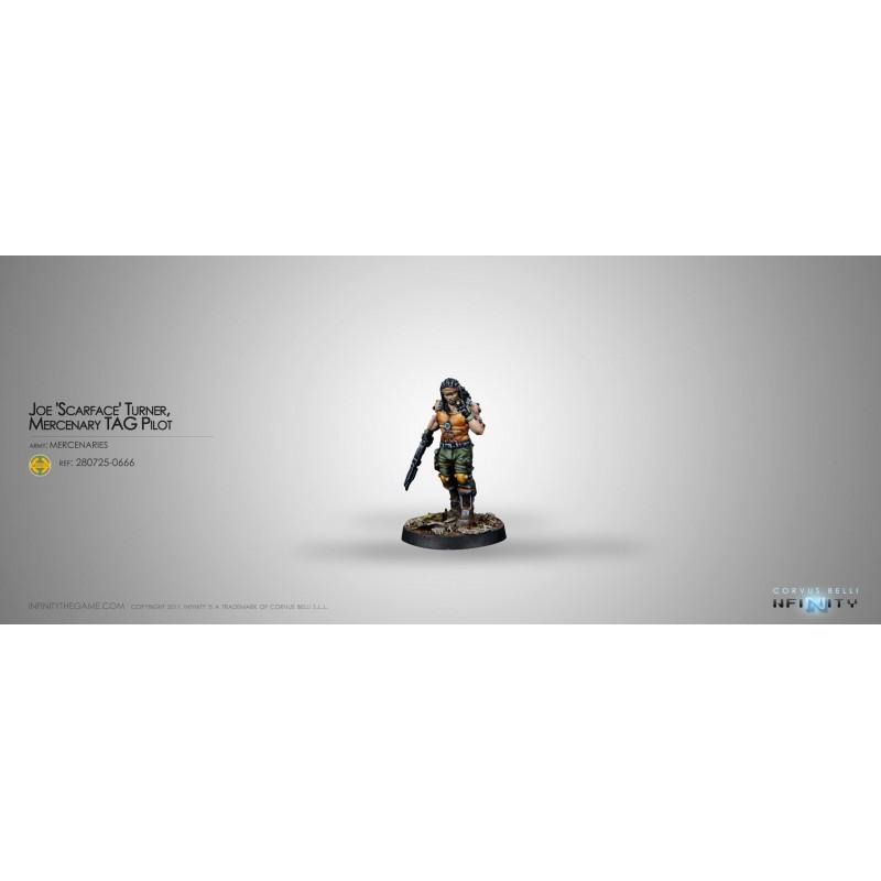 Figurine Infinity  (Corvus Belli)- Joe Scarface - Pilote de TAG