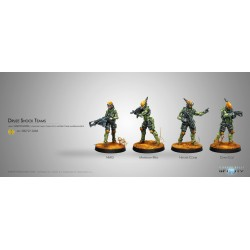 Figurine Infinity (corvus Belli) - Druze Shock Team (Pack de 4 - 2017)