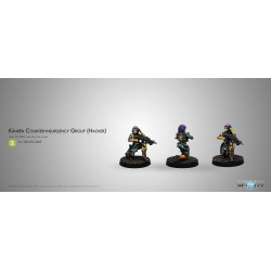 Figurine Infinity (corvus Belli) - Kanren Counter-insurgency Group (hacker)