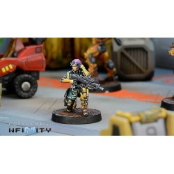 Figurine Infinity (corvus Belli) - Kanren Counter-insurgency Group (hacker)