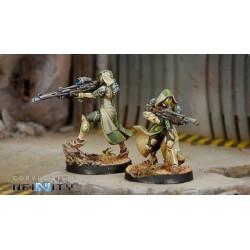 Figurine Infinity (corvus Belli) - Hassassin Lasiq (Fusil Viral / Sniper Viral)