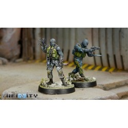 Figurine Infinity (Corvus Belli) - 1st Highlanders S.A.S (Boarding Shotgun / Chain Rifle)