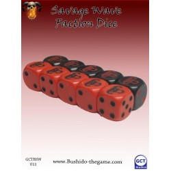Bushido - Faction Dice (10) - Savage Wave