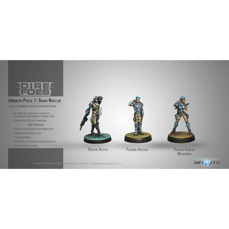 Figurine Infinity (Corvus Belli) - Dire Foes Mission Pack 1 : Train Rescue