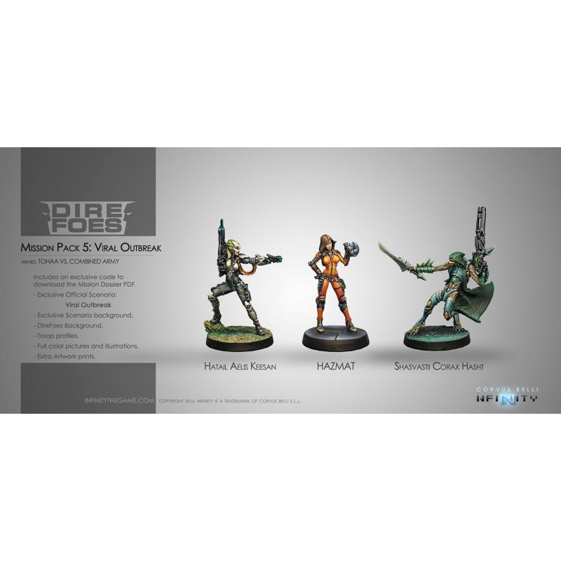Figurine Infinity (Corvus Belli) - Dire Foes  Hatail Aelis Keesan