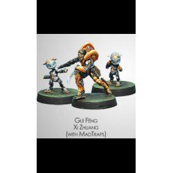 Figurine Infinity (Corvus Belli) - Dire Foes Gui Feng Xi Zhuang et Madtraps
