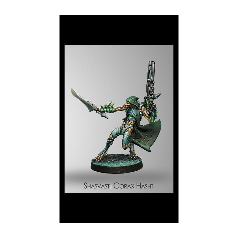 Figurine Infinity (Corvus Belli) - Dire Foes Corax Hasht