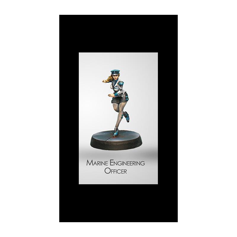 Figurine Infinity (Corvus Belli) - Dire Foes Naval Engineering Officer