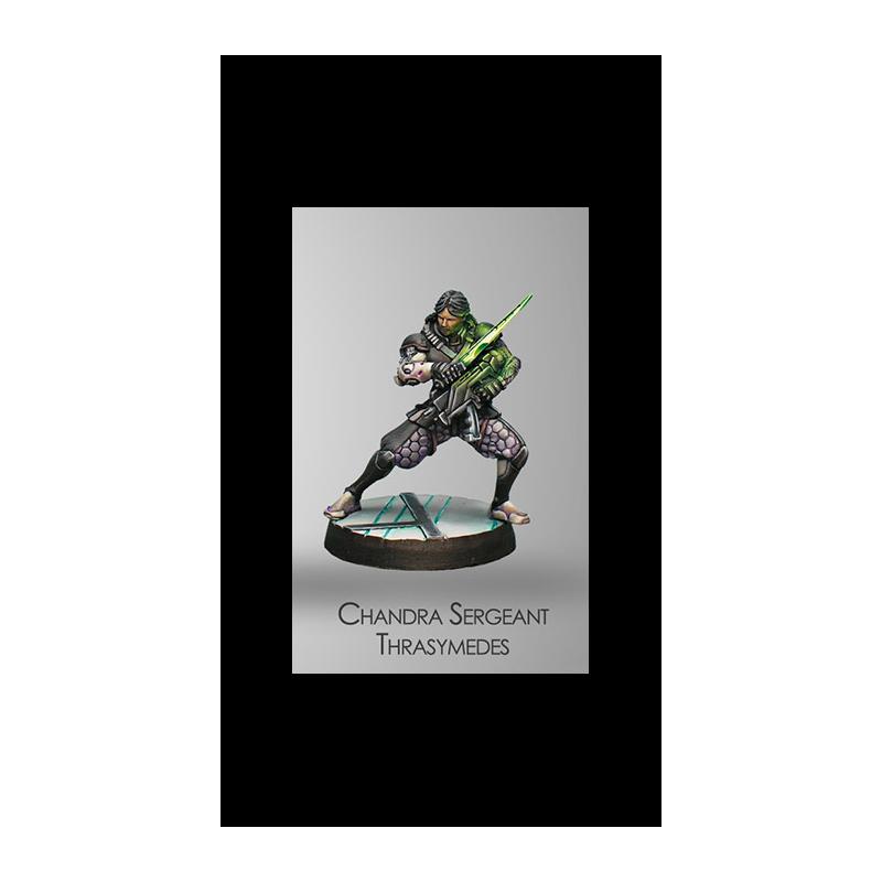 Figurine Infinity (Corvus Belli) - Dire Foes Chandra Sergeant Thrasimedes