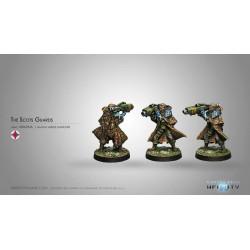 Figurine Infinity (Corvus Belli) -Scots Guards, 6th Caledonian Infantry Regiment (Lance-Missiles)