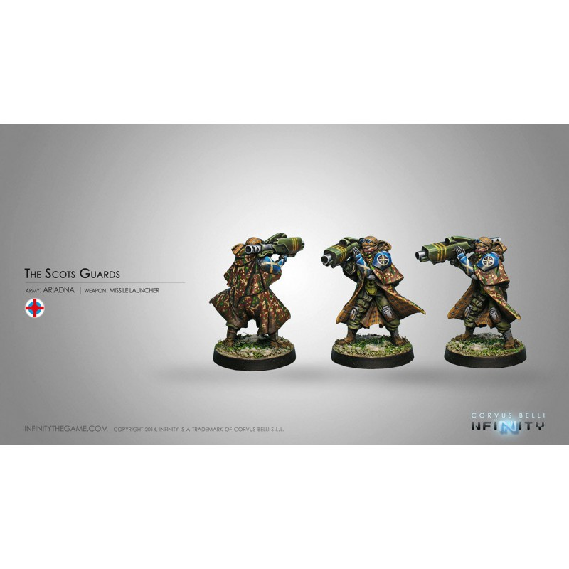 Figurine Infinity (Corvus Belli) -Scots Guards, 6th Caledonian Infantry Regiment (Lance-Missiles)