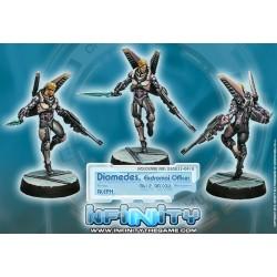 Infinity (Corvus Belli) - Diomedes, Officier Ekdromoi (Mk12, Nanopulseur)