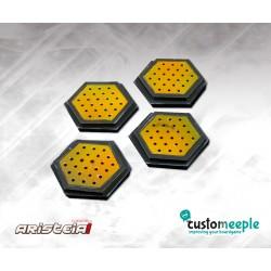 Aristeia! Socles hexagonaux Nomades (4) avec...